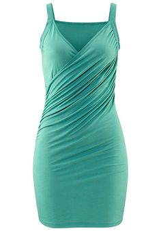 In Wickel-Optik vorn. Länge ca. 82 cm.  Aus 100% Viskose.   Passformhinweis: das Kleid fällt klein aus. Bitte eine Größe größer bestellen....