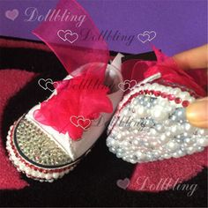 ... Newborn Custom baby name and birthday prewalkers fancy dazzling kids  fashion infant noble shoes  Affiliate. Hot pink canvas brand baby bling  handmade ... ba9859bcfc1b