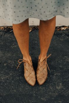 Free People Woven Leather Flats | ROOLEE