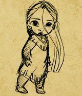 little Pocahontas. Follow the link for more adorable little princesses.