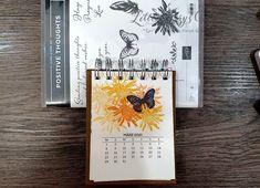 Kalender 2021 beim 3D Paper Trimmer Blog Hop Dezember 2020 - Thema: Willkommen 2021 3d Paper, Paper Crafts, Paper Trimmer, Heartfelt Creations, Stampin Up, Craft Supplies, Blog, Positivity, Create