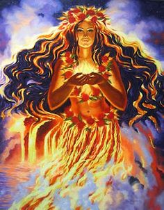 Pele, fire goddess of Hawaii who teaches us to tap into our passions and true heart's desire.