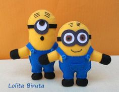 Bonecos Minions Em Feltro   Lolita Biruta   359026 - Elo7