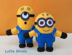 Bonecos Minions Em Feltro | Lolita Biruta | 359026 - Elo7
