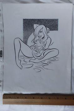 Bruce Timm ORIGINAL art drawing!! SIGNED!! One of a Kind!! - W.B. Hipster Drawings, Sexy Drawings, Drawing Sketches, Art Drawings, Cartoon Art, Girl Cartoon, Bruce Timm, Arte Pop, Erotic Art