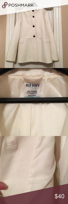 ❤️SALE❤Old Navy Pea Coat Never worn, cream coat with beautiful satin lining. Never got to wear-too big! Old Navy Jackets & Coats Pea Coats