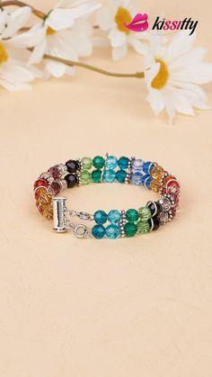 Memory Wire Jewelry, Handmade Wire Jewelry, Memory Wire Bracelets, Handmade Bracelets, Diy Jewelry, Beaded Jewelry, Vintage Jewelry, Jewelry Making, Bracelet Fil