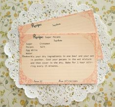 A free set of three 4×6 printable recipe cards incorporating vintage style into the template designs. Easily create your own custom recipe cards.