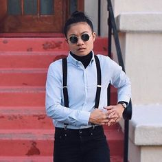 Congrats to @airinyung - the winner of our dapper contest - for putting together a spectacularly dapper outfit Can't wait to see you in your Kirrin Finch shirt   Their definition of dapper: To me dapper is concise comfortable expressive and unique to the individual! It isn't just $$$ and men in suits! (In fact all the clothing in this outfit comes out to less than $50.) It is genderless fluid fun and for all  Thinking and dressing dapper allows me to confidently convey parts of my identity…