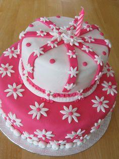 Gâteau que j'ai fait pour le premier anniversaire de ma fille!
