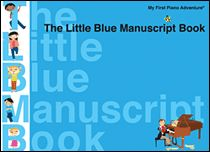 The Little Blue Manuscript Book With 38 pages of large-sized staffs, teachers and students have plenty of room for writing assignments and exploring composition.  Students receive extra support from an 8-page reference section covering note values, essential musical terms, staff orientation, how to draw clefs, and a simple introduction to composing with patterns. $3.50  #HL 00420331