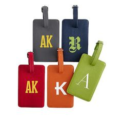 Colorfield Luggage Tags will make great stocking stuffer gifts. Or, attach a key to a brand new car:)