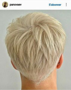35 Best Short Pixie Haircuts for 2019 - Page 24 of 35 - Hairstyle Zone X A lot of women are of the belief that short haircuts with bangs look glamorous or beautiful compared to the long haircuts. cutting your long hair, Short Grey Hair, Short Hair Cuts For Women, Long Hair Cuts, Short Hairstyles For Women, Short Hair Styles, Blonde Short Hair Pixie, Platinum Blonde Pixie, Funky Short Hair, Back Of Short Hair