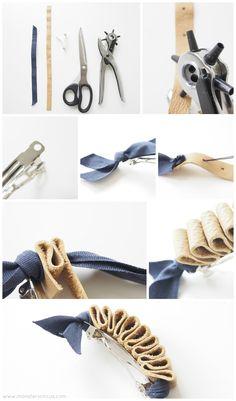DIY Leather Hairclip
