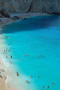Swimming in Porto Katsiki, Lefkada via @stepin