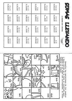 FICHAS DE MATEMÁTICA (JUEGOS) – Betiana 1 – Webová alba Picasa Math 2, 3rd Grade Math, Math Class, Grade 1, Math Worksheets, Math Activities, Material Didático, Hidden Pictures, Kids Education