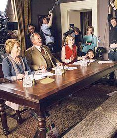 happymathilda: Downton Abbey - ITV's Text Santa 2015 Downton Abbey Season 6, Downton Abbey Cast, Penelope Wilton, British Period Dramas, Actors Then And Now, Hugh Bonneville, Past Life, Your Turn, Series Movies