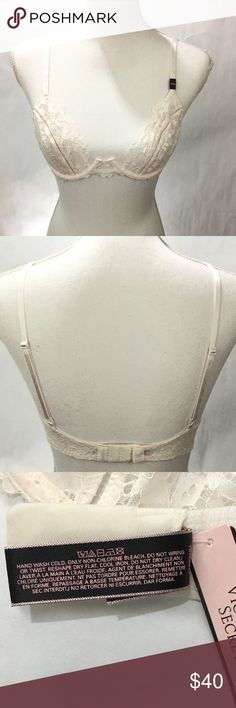 Victoria's Secret Unlined Demi Bra White Lace 34B Victoria's Secret Unlined Demi Bra White Lace 34B  v43 *Back Closure with double hook & eye  *Retail $42.50 *Please check out my other listings. I'm sure you will find something you like.  *Reasonable Offers are accepted.              Thank you for Shopping Daisy's Closet Victoria's Secret Intimates & Sleepwear Bras