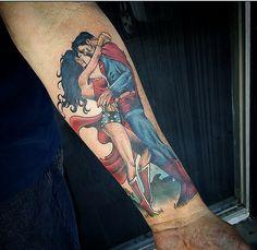 Superman and Wonder Woman from the weekend…. #superman #wonderwoman via chris_strik