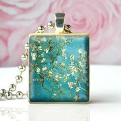 BLOSSOMING ALMOND TREE - Scrabble Tile Pendant $5.95