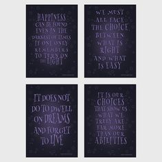 Harry Potter Dumbledore Quote Set Of 4 Harry von EllenPrintable