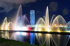 Tańczące fontanny w Batumi