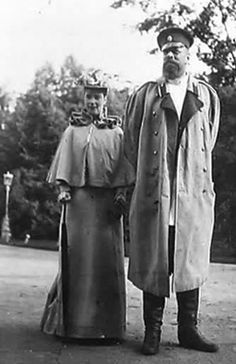 Maria Feodorovna and Alexander III, parents of Nicholas II. Interesting to see them both, did not know how they looked like together