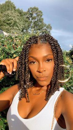 Faux Locs Hairstyles, Braids Hairstyles Pictures, Twist Braid Hairstyles, Braided Hairstyles For Black Women, African Braids Hairstyles, Braids For Black Hair, Girl Hairstyles, Protective Hairstyles, Black Girl Braids