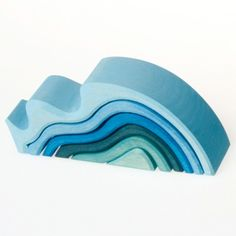 Grimms Spiel & Holz, Water Waves, Wooden Nesting Blocks