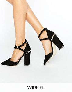 Browse online for the newest ASOS PAXTON Wide Fit Pointed Heels styles. Shop easier with ASOS' multiple payments and return options (Ts&Cs apply). Black Block Heel Shoes, Black Pointed Heels, Black High Heels, Pointed Toe Pumps, Prom Heels, Shoes Heels, Party Wear For Women, Asos, Textiles