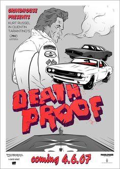 Awesome Art We've Found Around The Net:Death Proof, Die Hard, Shutter Island Artwork Prints, Poster Prints, Death Proof, Fan Poster, Love Movie, Movie Tv, Alternative Movie Posters, Music Film, Film Serie