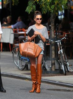 Chrissy Teigen's Luggage Tote and inspiring city ensemble.