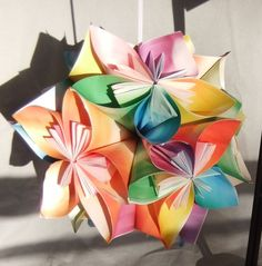 Large Origami Flower Ornament $20