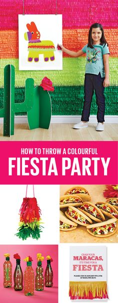 Transport your party guests to warmer climes with a colourful fiesta! #party #birthdaypartyideas #fiesta