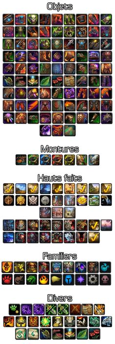 Various WoW:MoP icons 3