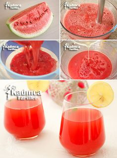 Watermelon Juice Recipe, How To - Womanly Recipes - Delicious, Practical and Delicious Food Recipes Site , Smoothie Recipes With Yogurt, Smoothie Recipes For Kids, Fruit Smoothies, What Is Quinoa, How To Cook Quinoa, Just Juice, Delicious Desserts, Yummy Food, Recipe Sites