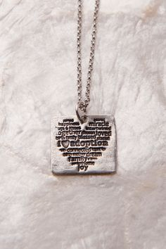 I Love Adoption, I Love Adoption Necklace, Adoption Gifts, Adoption Sayings, Adoption Gift, Adoption Jewelry, Adoption, Hand Stamped. $38.00, via Etsy.