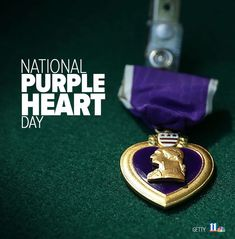 Today is National Purple Heart Day. We're forever grateful for the men and women who dedicate their lives to ensuring our freedom. Today and everyday, we thank you 🇺🇸️💜💜 Us Military Medals, Military Ribbons, Hearts Day Quotes, Purple Heart Day, Medal Ribbon, Patriots Day, Marine Mom, National Days, American Quotes