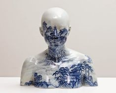 """china, china"" series of porcelain portrait busts by ah xian"