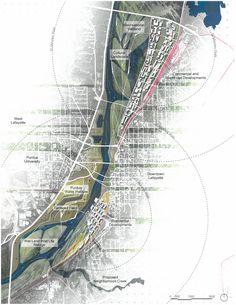 Natural Water as Cultural Water / A 30 Year Plan for Wabash River Corridor in Lafayette by Daniel (Zhicheng) Xu _Site Plan (1700×2200)