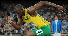 Usain Bolt the lightning man.  What amazing speed.