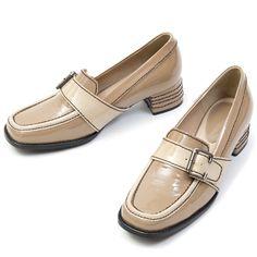 ITPO loafer_Cos'Stripe&Rectangle Belt Loafer (Beige)