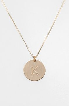 Nashelle 14k-Gold Fill Initial Disc Necklace | Nordstrom