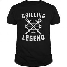 Grilling Legend Barbeque BBQ Grill - #personalized sweatshirts #cotton shirts. SIMILAR ITEMS => https://www.sunfrog.com/LifeStyle/Grilling-Legend-Barbeque-BBQ-Grill-Black-Guys.html?60505