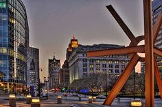 Downtown Milwaukee on Wisconsin Ave.