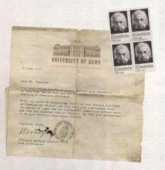 Einstein rejection letter