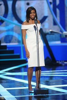 WHO: Michelle Obama WHAT: Zac Posen WHERE: BET's Black Girls Rock! WHEN: March 28, 2015