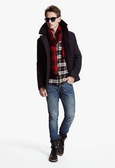 The Kooples SPORT Man collection FW 2013-14 #pea #coat #tartan #style #thekooples #sport