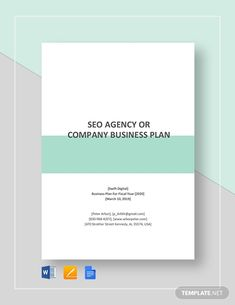 SEO Agency or Company Business Plan Template Business Proposal Letter, Writing A Business Plan, Business Planning, Business Plan Template Free, Flyer Template, Microsoft Publisher, Microsoft Word, Contracting Company, Meal Planning Printable