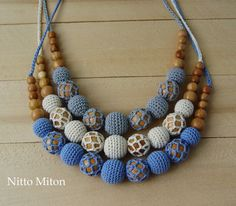 Crochet Nursing necklace Breastfeeding necklace Babywearing
